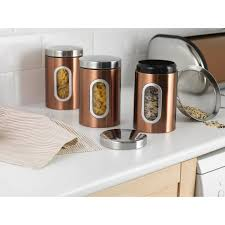 storage canisters kitchen morrisons addis stainless steel kitchen storage canisters copper