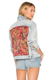 Light Denim Jacket Free People Paisley Quilted Denim Jacket In Light Denim Revolve