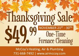 thanksgiving sale mccoy s heating and air