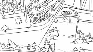 boston tea party coloring free printable coloring pages