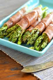 prosciutto wrapped asparagus with goat cheese virtually