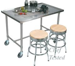 John Boos Kitchen Tables Maple Stainless Steel Table John Boos - Stainless steel kitchen tables