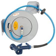 water hose reel wall mount t u0026s b 7232 05 35 u0027 open epoxy coated steel hose reel with front