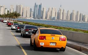 ford mustang dubai 300 mustang parade in dubai to celebrate iconic pony car s