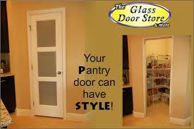 Glass Insert Doors Interior Frosted Pantry Door With Design In Mind The Glass Door Store