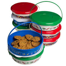 Container For Food Storage 8 Pack Holiday Treat Carriers With Lids Handles Christmas Food