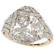 deco 16 two tone 18 epoque deco two tone gold ring gallerease
