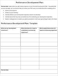 template for personal development plan sample personal