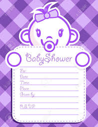 vector baby shower invitation greeting card royalty free cliparts