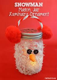 Diy Mason Jar Christmas Decorations by Snowman Mason Jar Luminary Ornament Craft Idea Club Chica Circle
