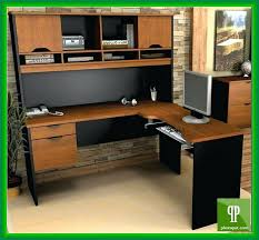 desk amazing office desk hutch hyperwork right l shaped office