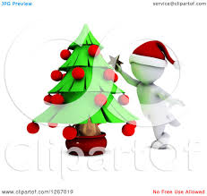 royalty free rf trimming christmas tree clipart illustrations
