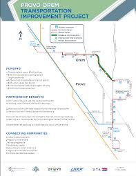 Provo Utah Map by Provo Orem Getting Road Makeover With Bus Rapid Transit System