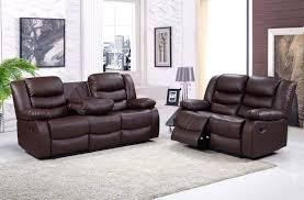 Leather Sofas For Sale On Ebay Brown Bonded Leather Luxury Recliner Sofa Set With Pull Down Drink
