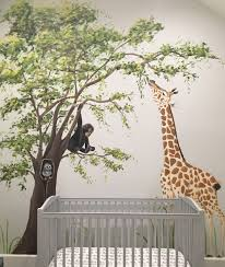 art ideas by debbie cerone jungle murals the little guy that sleeps in this nursery just loves jungle animals mom has done a fantastic job of creating a sweet relaxing safari nursery
