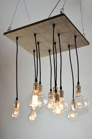square industrial style chandelier light fixture made from