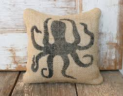 octopus decor octopus burlap feed sack doorstop nautical door stop octopus