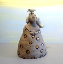 home decor gifts for mom ceramic sculpture of woman figure clay figure grey home decor