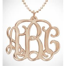 3 Initial Monogram Necklace Sterling Silver 93 Best Monogram Jewelry Images On Pinterest Monogram Jewelry