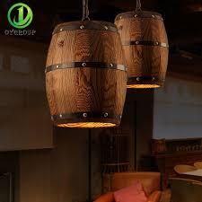 Wohnzimmer Lampe E27 Retro Land Holzfass Pendelleuchten Lampe Kreative Loft E27 Leuchte