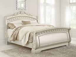 sleigh bedroom set cassimore king sleigh bed set the furniture mart