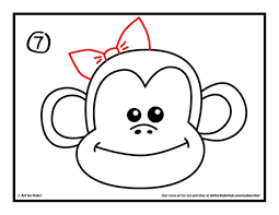 simple drawings of monkeys