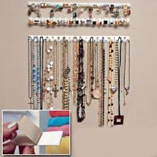 necklace organizer images 9pcs adhesive jewelry hanger earring necklace organizer holder jpg