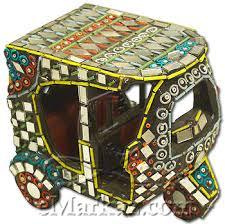 emarkaz traditional multi coloured riksha send gifts to