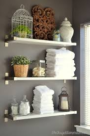 Decorate Bathroom Shelves Bathroom Decorating Bathroom Shelves Gray Decor Ideas Guest