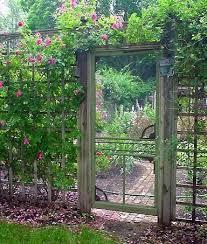 old screen door as garden gate in the garden pinterest old