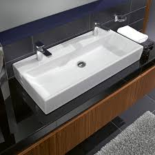 Amare 60 Vanity Large Bathroom Sink With Two Faucets Long Double Sink Bathroom