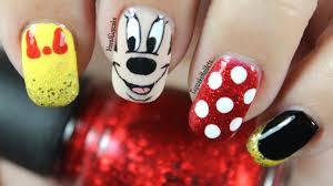 disney nail art minnie mouse youtube