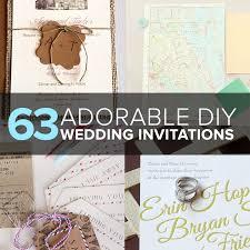 Diy Wedding Invitation 63 Adorable Diy Wedding Invitation Ideas