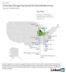 Urbana Ohio Map by Linkedin Workforce Report Chicago April 2017 Linkedin