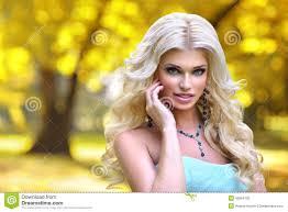 beautiful barbie autumn park stock photo image 49964782