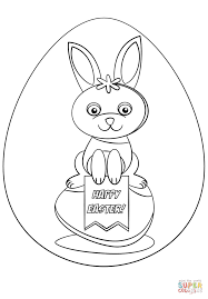 happy easter coloring page free printable coloring pages