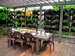 outdoor dining with vertical garden ideas 2028 patio design ideas