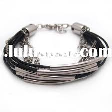 silver leather wrap bracelet images Leather and silver bracelet womens best bracelets jpg
