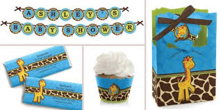 baby shower themes boy giraffe boy baby shower decorations theme babyshowerstuff