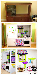 Diy Play Kitchen From Entertainment Center 225 Best Play Kitchen Dress Up Storage Images On Pinterest Play