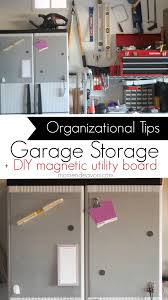 home organization garage storage ideas diy magnetic utility board