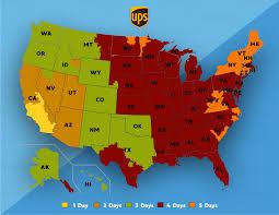 Ups Ground Shipping Map Faq