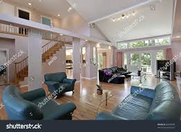 great room suburban home open floor stock photo 66607609
