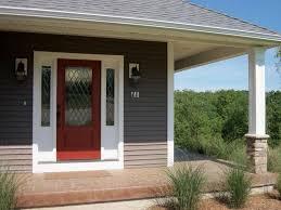 white wooden door along panel door bay window treatment ideas