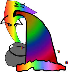 Throwing Up Rainbows Meme - puking rainbows