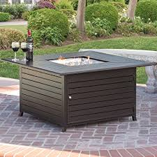 patio table with fire pit amazon com best choice products bcp extruded aluminum gas outdoor