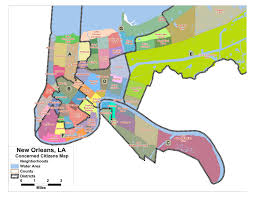 New Orleans City Map by Justice Roars June 2011