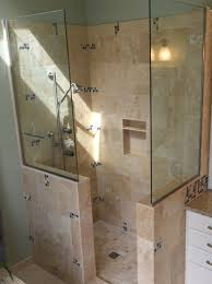 Small Bathroom Designs With Walk In Shower Alluring Doorless Shower Design Doorless Walk In Shower Ideas