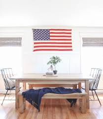 simple patriotic dining room love grows wild