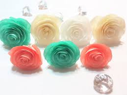 Fake Roses Paper Cabbage Rose Coffee Filter Roses Artificial Flowers Fake